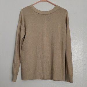 Stitch Fix  sparkle button back cream sweater